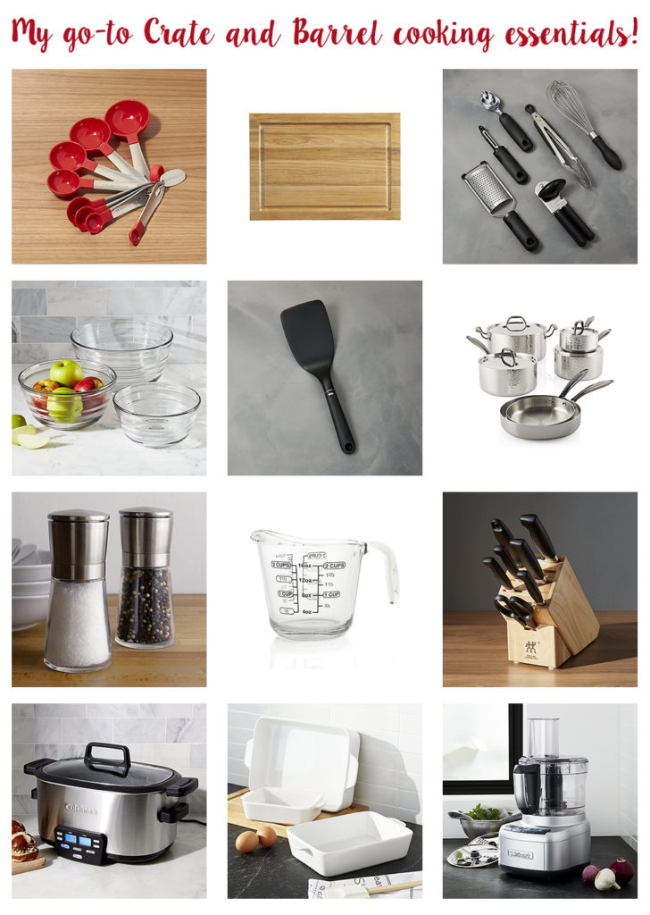 My Go-To Crate and Barrel Cooking Essentials! | http://www.roseclearfield.com