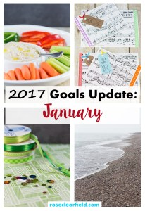 2017 Goals Update: January | http://www.roseclearfield.com