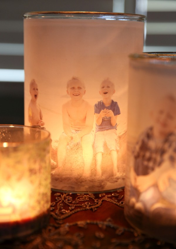 Last-Minute DIY Valentine's Day Gift Ideas - Glowing Family Picture Luminaries via Our Best Bites | http://www.roseclearfield.com