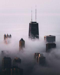 Chicago in the Fog by Michael Salisbury (msalisbu) on Instagram | http://www.roseclearfield.com
