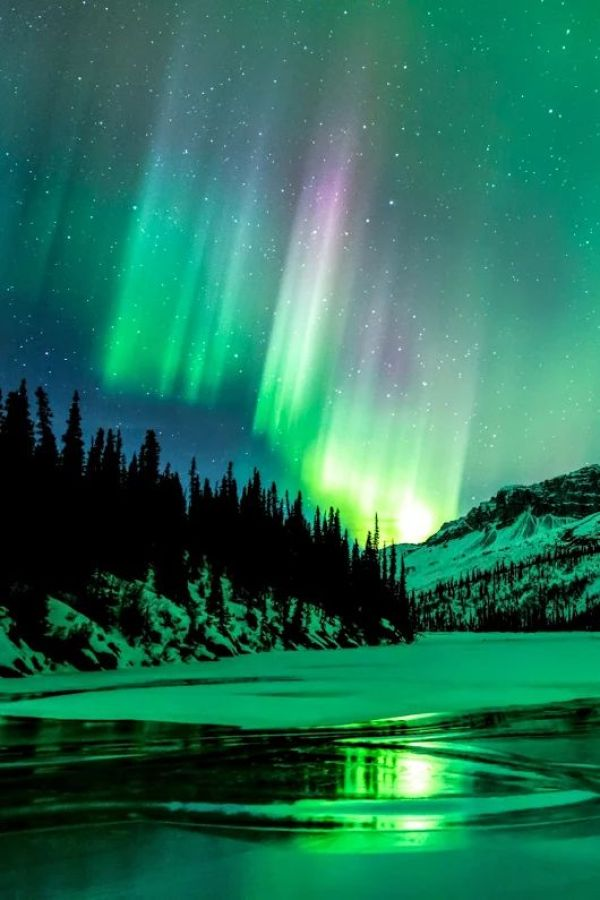 Green Photography Inspiration - Mint Teal Green and Purple Aurora Borealis Northern Lights | http://www.roseclearfield.com