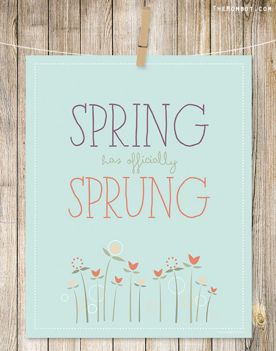 Free Spring Printables - The Mom Bot | http://www.roseclearfield.com