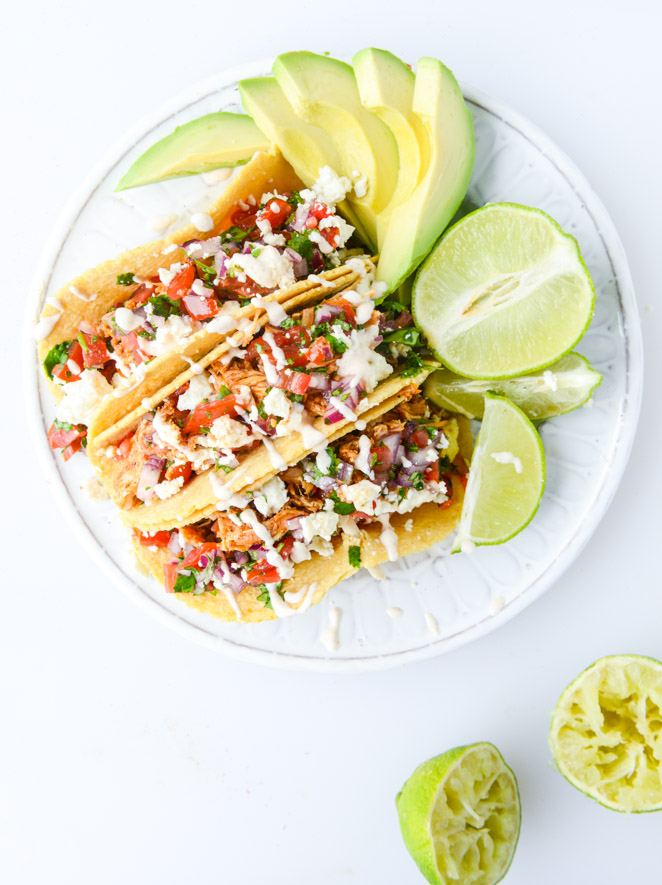 30 Days of Healthy Chicken Dinner Recipes - Easy Weeknight Chicken Tacos via How Sweet It Is | http://www.roseclearfield.com