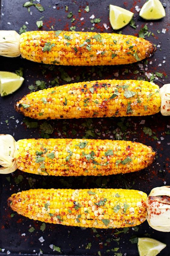 Memorial Day Inspiration - Grilled Corn on the Cob via Blissful Basil | http:://www.roseclearfield.com