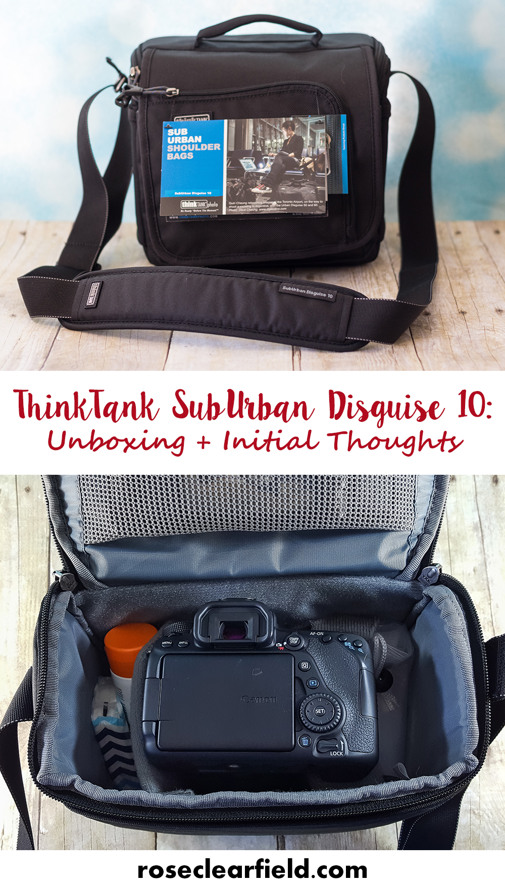 ThinkTank SubUrban Disguise Unboxing + Initial Thoughts | http://www.roseclearfield.com