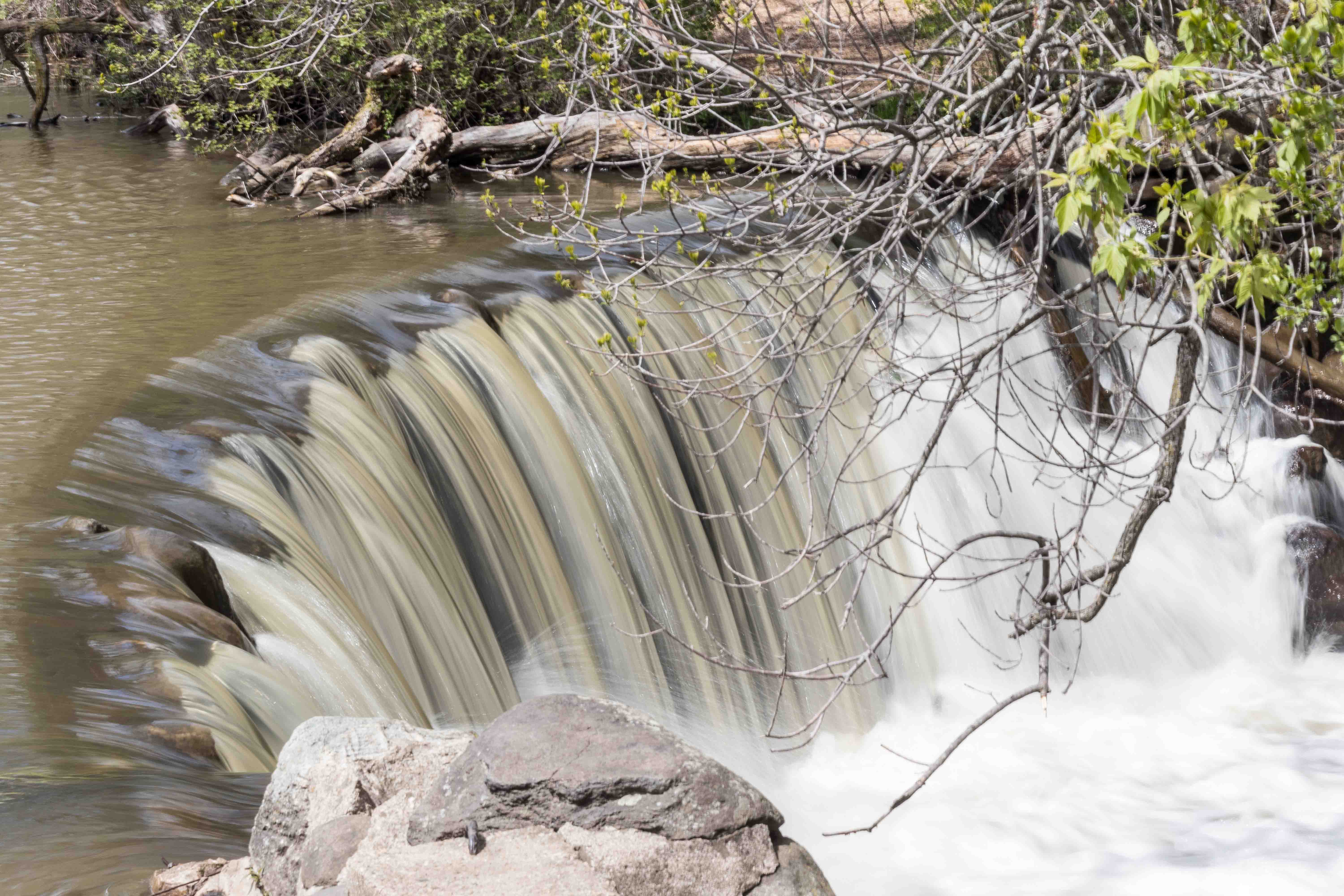 Whitnall Park Large Waterfall May 2017 | http://www.roseclearfield.com