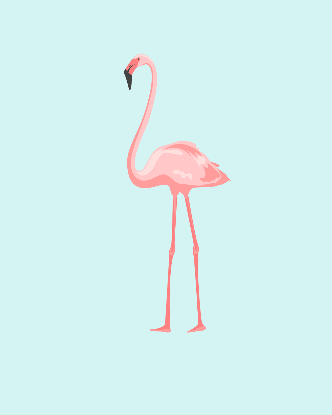 Free Summer Printables - Flamingo Printable via Oh So Lovely | http://www.roseclearfield.com