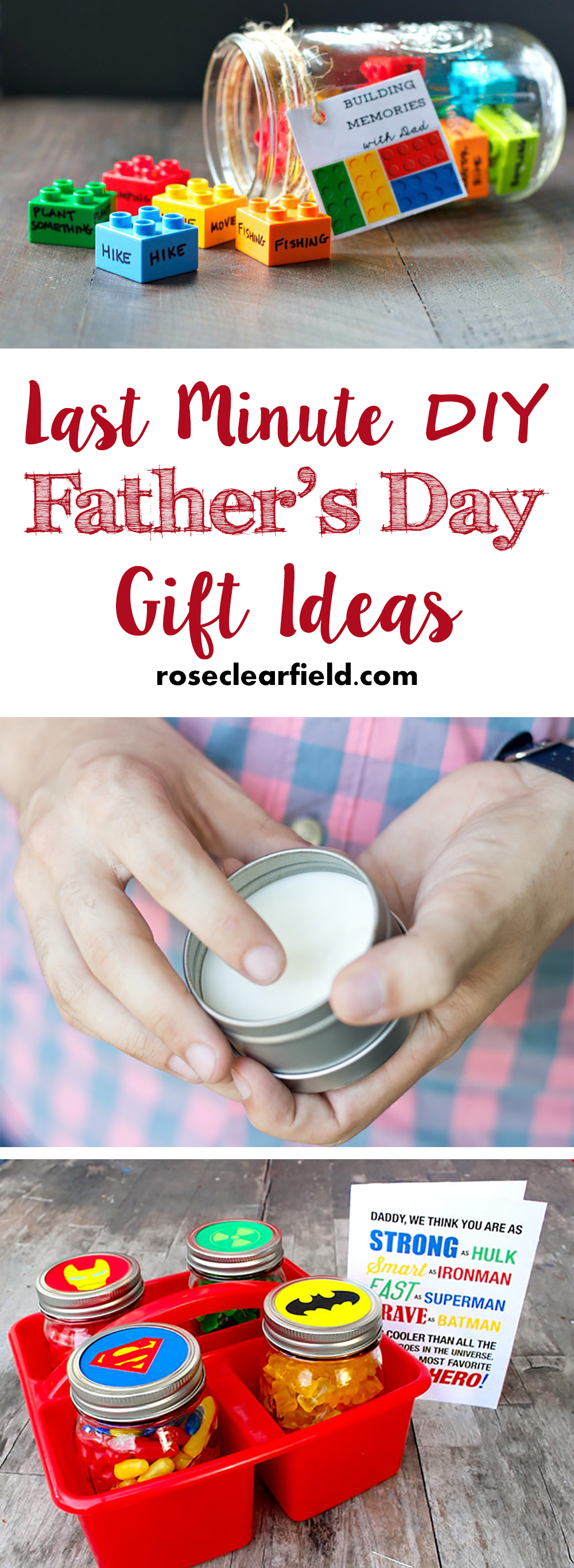 Last Minute DIY Father's Day Gift Ideas | http://www.roseclearfield.com