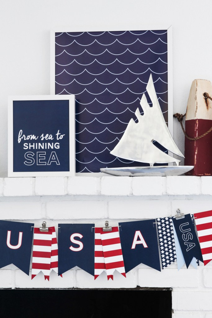 Free Summer Printables - Patriotic 4th of July Nautical Prints via Tater Tots and Jello | http://www.roseclearfield.com