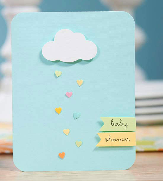 April Showers Bring May Flowers - Cloud Baby Shower Invitation via Better Homes and Gardens | http://www.roseclearfield.com