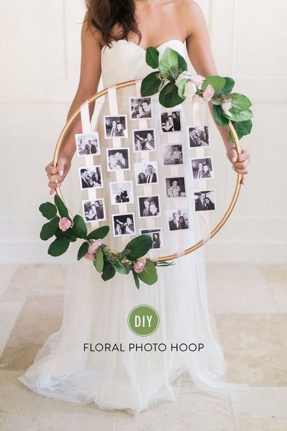 Unique Mother's Day Photo Gift Ideas - DIY Floral Photo Hoop via Style Me Pretty | https://www.roseclearfield.com