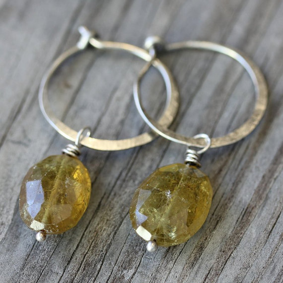 Mother's Day Gift Ideas for Birth Moms - Green Garnet Earrings via OneGarnetGirl on Etsy | http://www.roseclearfield.com