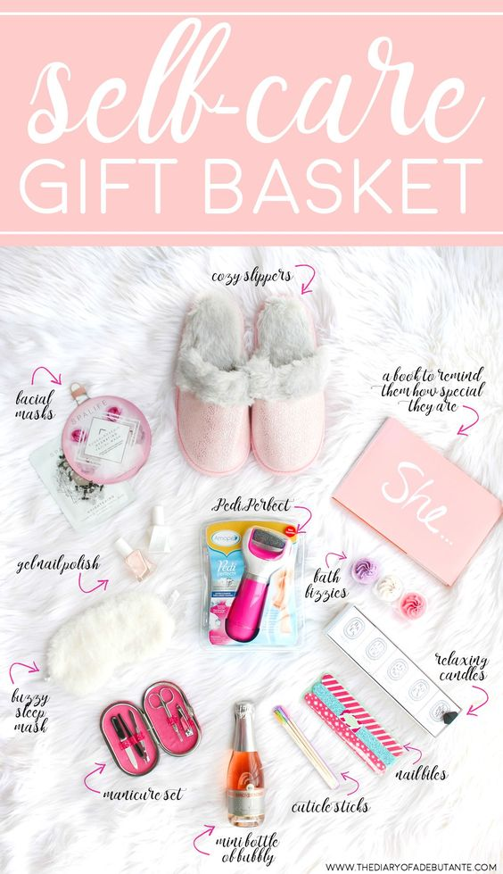 Mother's Day Gift Ideas for Birth Moms - Self Care Gift Basket via The Diary of a Debutante | http://www.roseclearfield.com