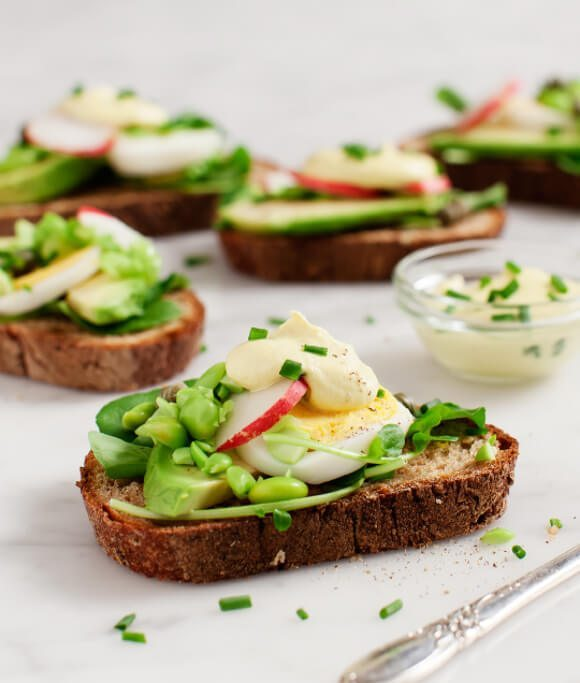 Breakfast for Dinner Ideas - Avocado Almondaise Tartines via Love and Lemons | http://www.roseclearfield.com