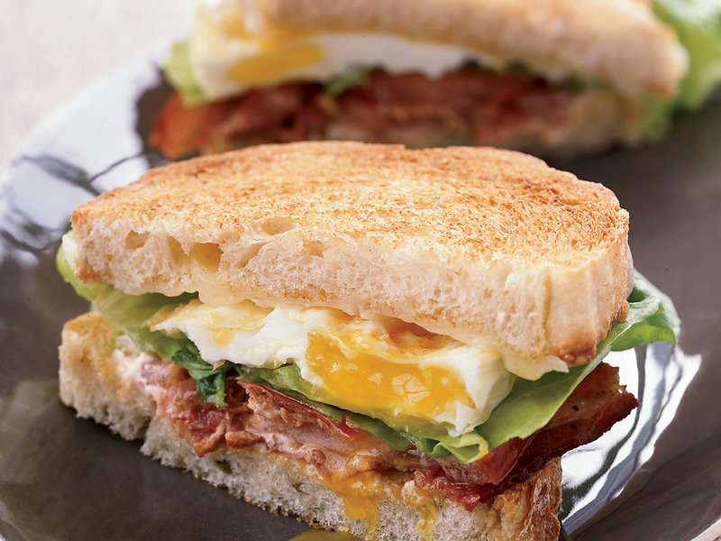 Breakfast for Dinner Ideas - BLT Fried Egg and Cheese Sandwich via Food and Wine | http://www.roseclearfield.com