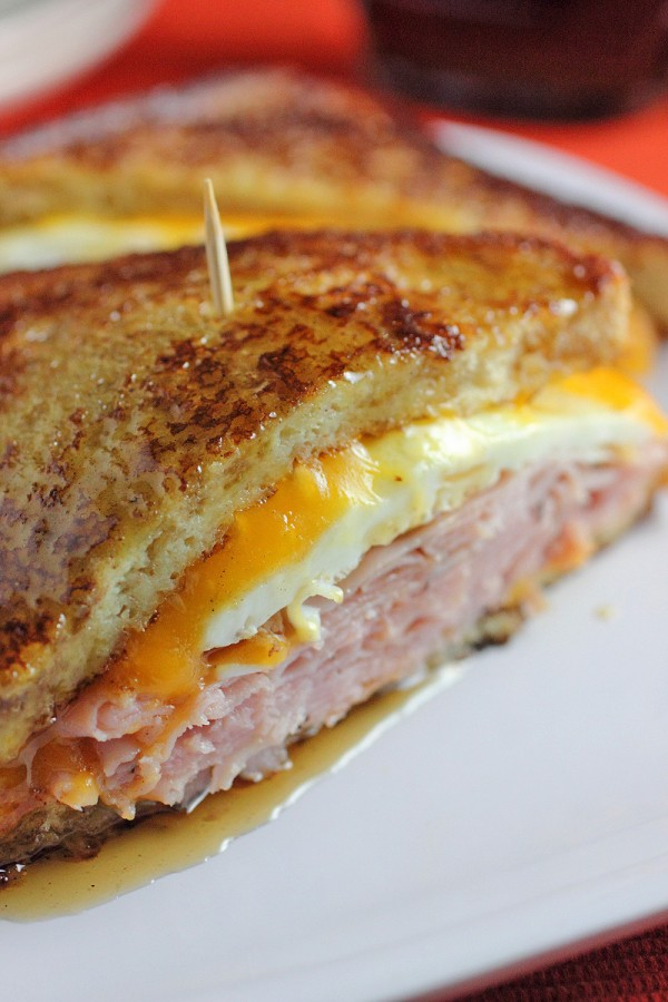 Breakfast for Dinner Ideas - French Toast Grilled Cheese Sandwich via Brown Sugar | http://www.roseclearfield.com