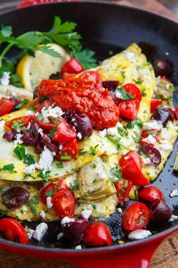 Breakfast for Dinner Ideas - Mediterranean Omelette via Closet Cooking | http://www.roseclearfield.com