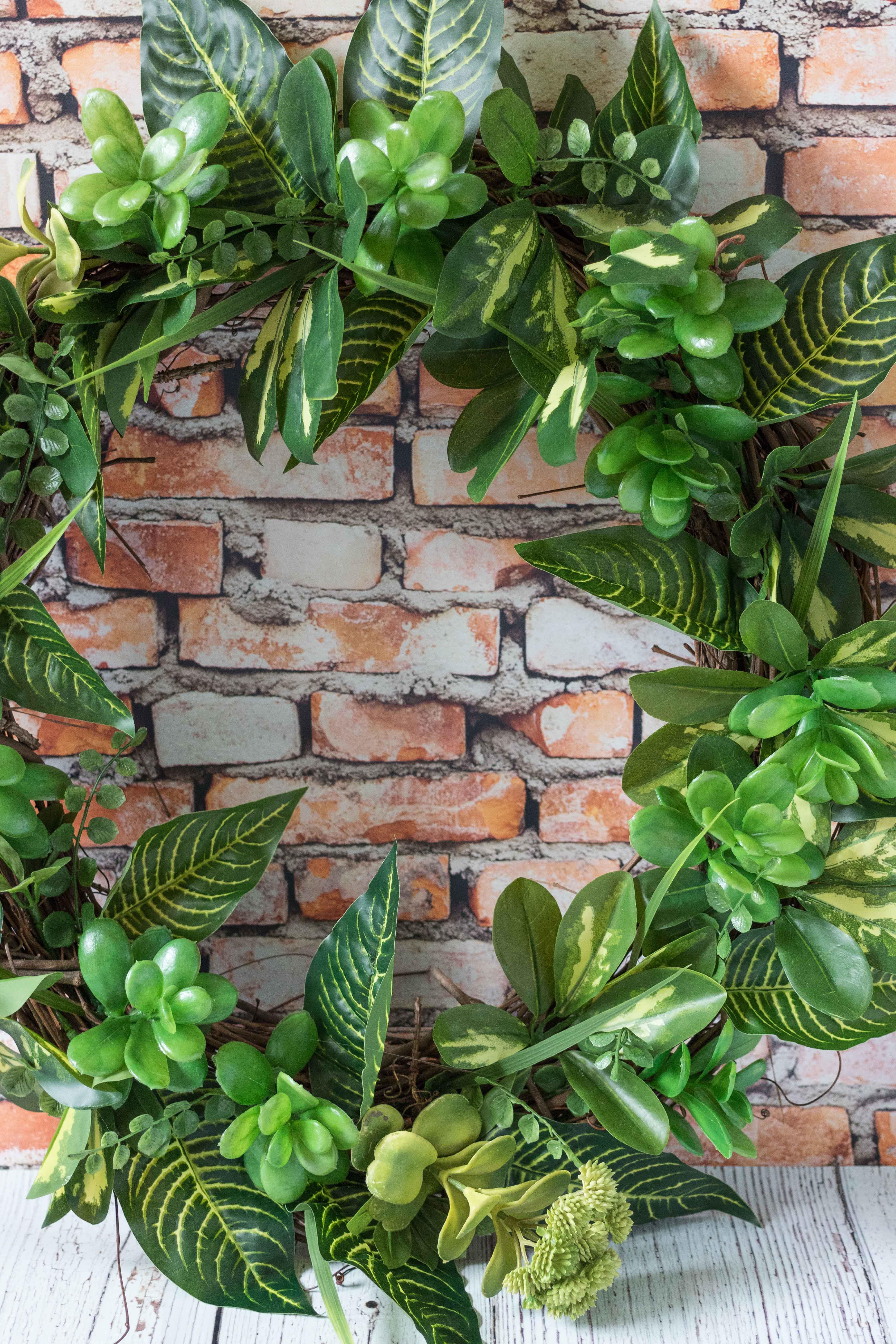DIY Faux Greenery Wreath | http://www.roseclearfield.com