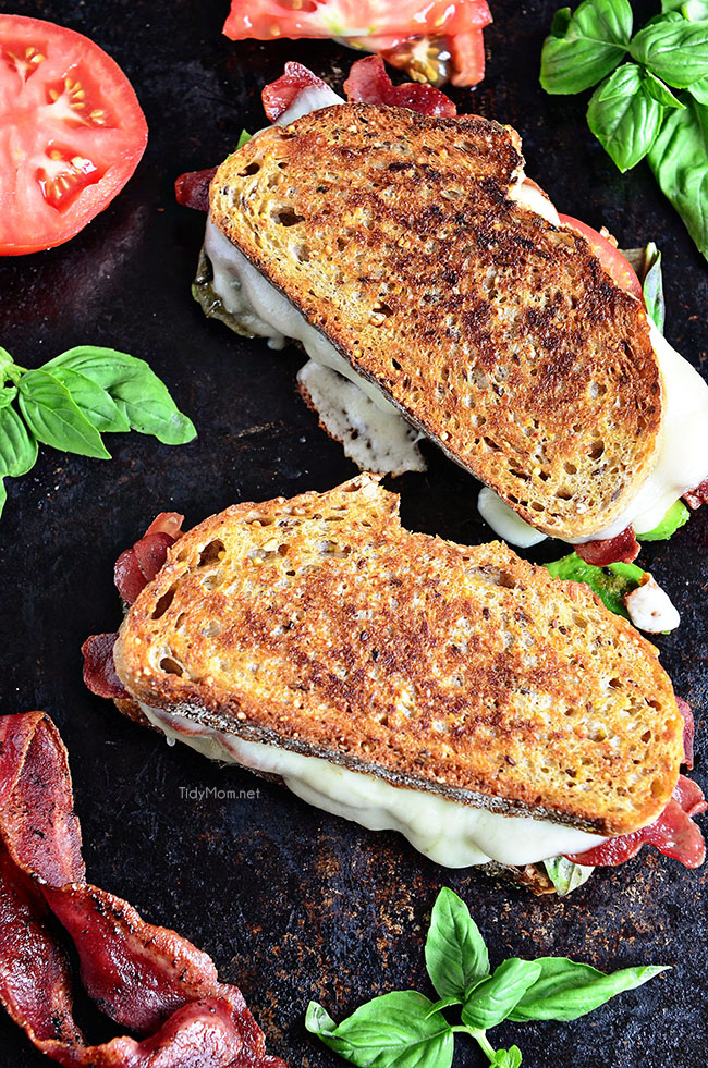Back to School Healthy Lunches for Adults - Turkey Bacon and Avocado Grilled Cheese via Tidy Mom | http://www.roseclearfield.com