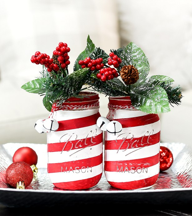 DIY Christmas Mason Jar Decor | mason jar gift ideas