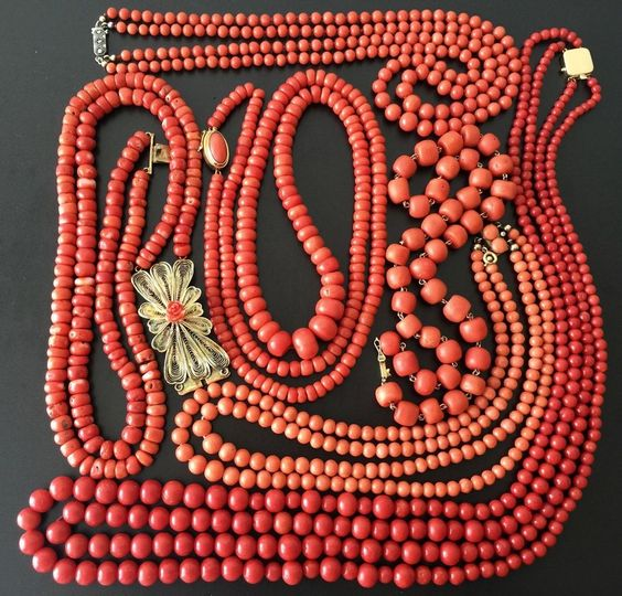Living Coral Inspiration via eBay | https://www.roseclearfield.com