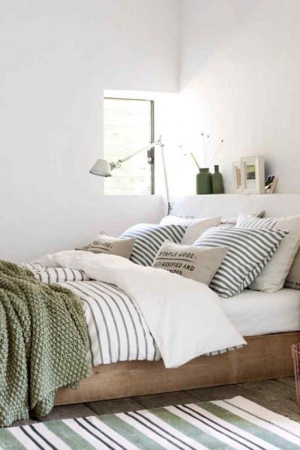 Stripes Inspiration - Striped Bedding and Rug via Grazia Magazine | https://www.roseclearfield.com