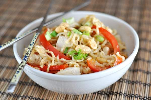 30 Healthy Ramen Noodle Recipes - Kicked Up Ramen Noodles Kung Pao Style via Mel's Kitchen Cafe | https://www.roseclearfield.com