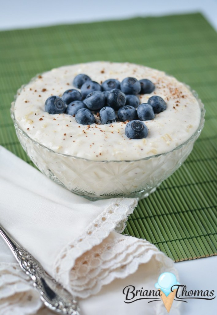 Healthy rice pudding for two. A nutritious treat that tastes great! via Briana Thomas #ricepudding #healthydessert #dessertfortwo | https://www.roseclearfield.com