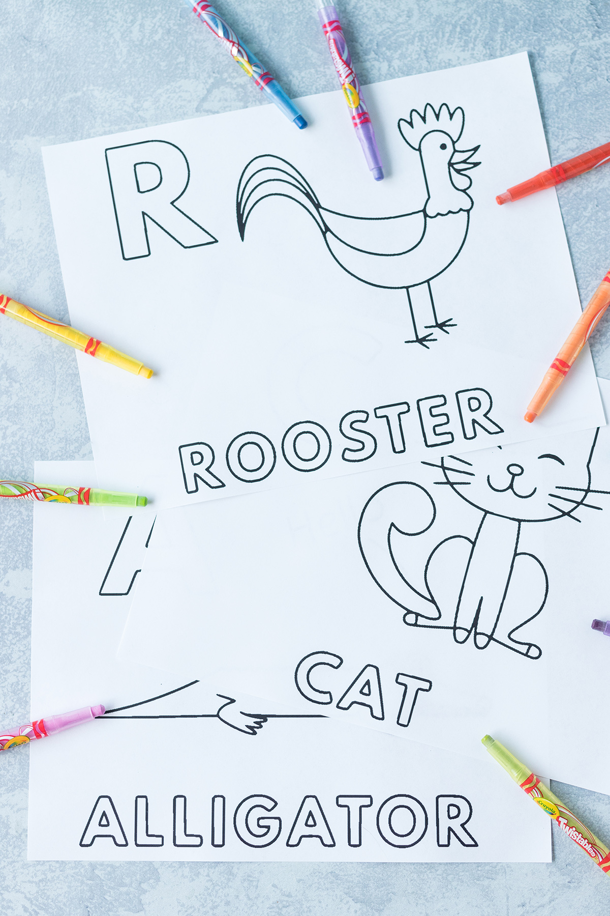 Free Alphabet Animals Worksheets To Color Rose Clearfield