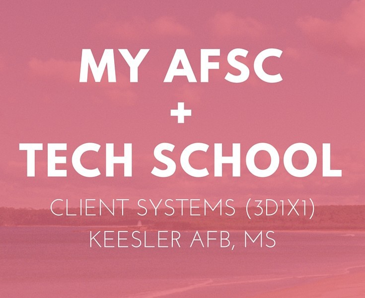 afsc 3d1x1 client systems and tech school rose colored water