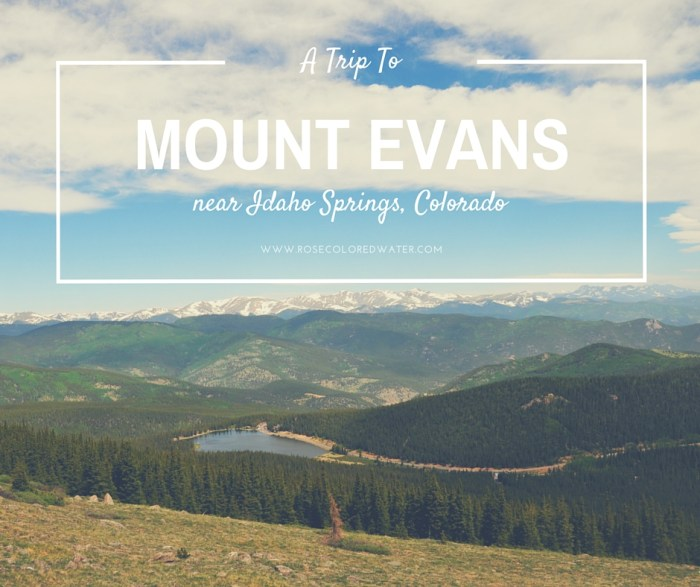 A Trip to Mount Evans near Idaho Springs, Colorado