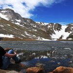Mike Taking it all in | Summit Lake | Chicago Lakes Trail | Mount Evans