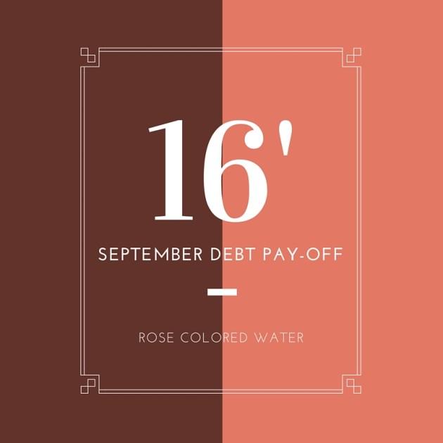 September 2016 Debt Pay Off