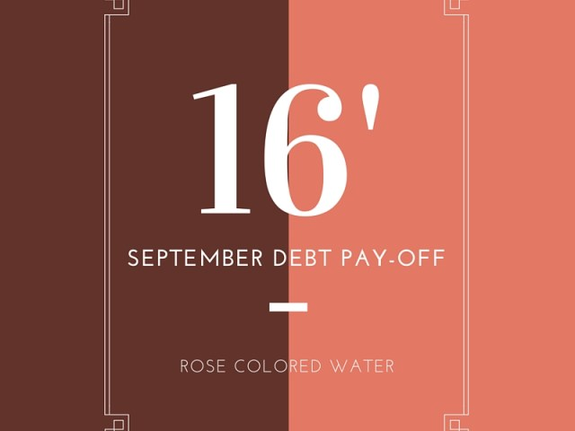 September 2016 Debt Pay Off