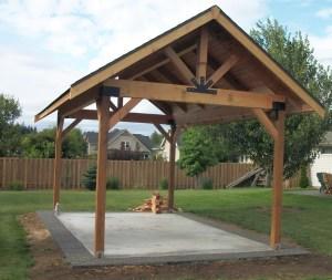 Pergola Picnic Pavilion Then  barbecue  Rose Construction Inc