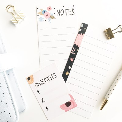 Les petites notes à imprimer – Thème «Cute Spring»