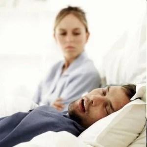 man with snoring habit