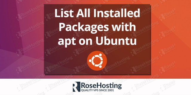 List All Installed Packages with apt on Ubuntu