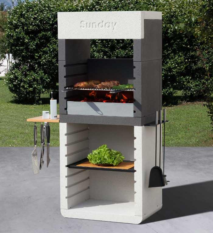 Sunday One il rivoluzionario barbecue in muratura dal design moderno  Rose In The Wind