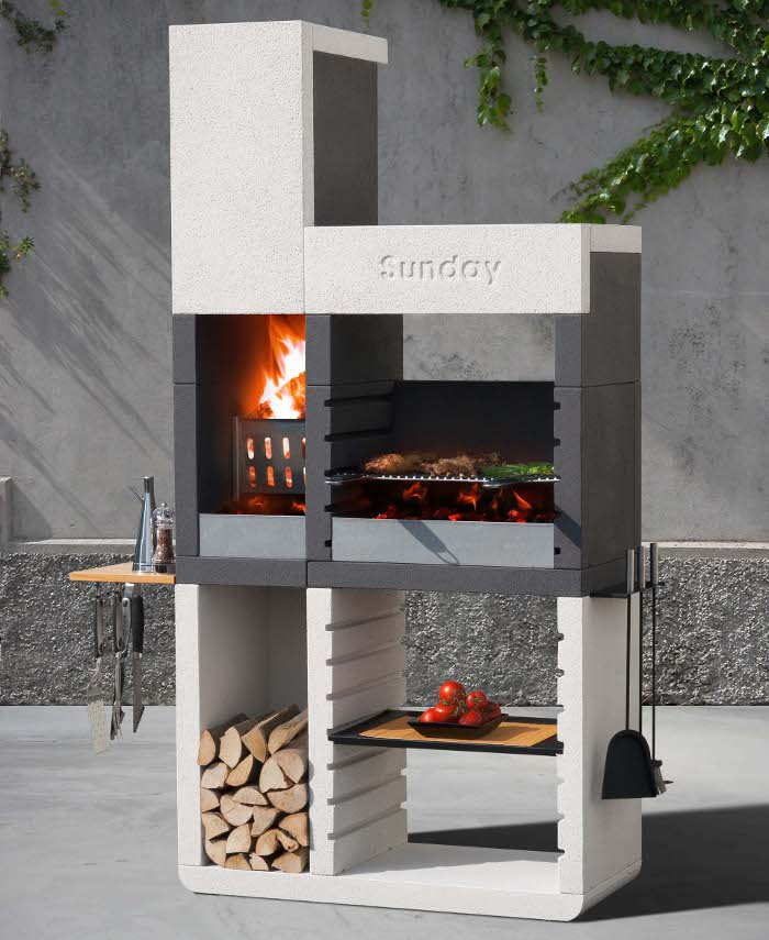 Sunday One il rivoluzionario barbecue in muratura dal design moderno  Rose In The Wind