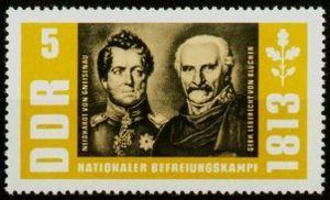 Blucher and Gneisenau on a stamp