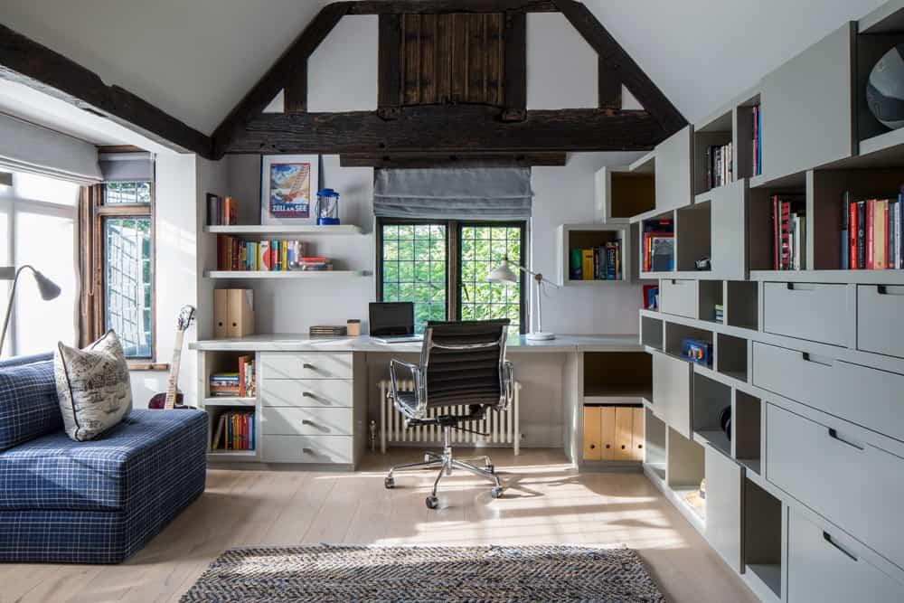 Boys Bedroom With Desk And Built In Joinery And Storage Space By Roselind Wilson Design Roselind Wilson Design