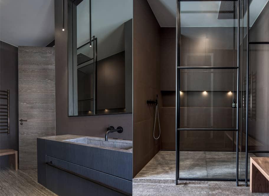 Luxury bathroom design that radiates elegance warmth and
