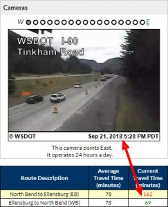 I-90 extended drive time