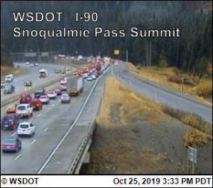 I-90 Snoqualmie traffic jam