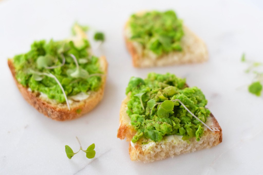 English Pea Tartines - Spring Recipe Inspiration