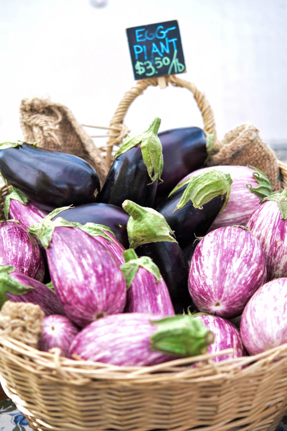 5 things I learned from joining a CSA this summer, eggplant, farmer's market