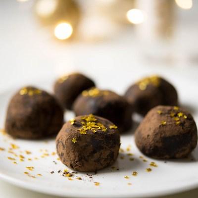 Vegan, Gluten Free, Dairy Free Dark Chocolate Truffles