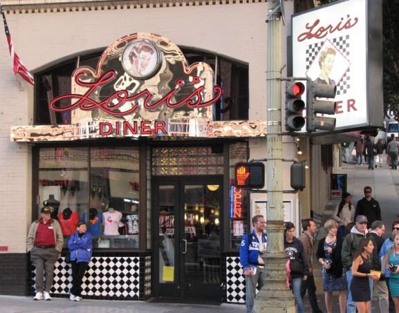 a retro cafe on a San Francisco corner