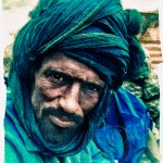 Portrait of a Touareg man at the Taodenni salt mines. Mali, West Africa